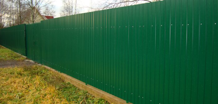 Забор из профнастила своими руками | Цена материалов