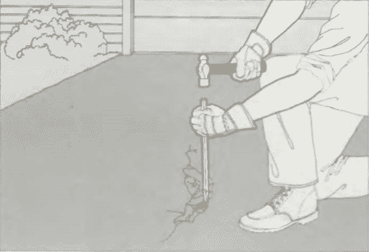 Ремонт широких трещин   Ремонт бетона