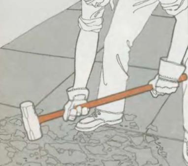 Ремонт отслоившегося бетона   Ремонт бетона