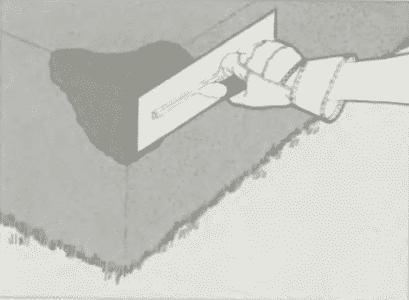 Восстановление угла ступени   Ремонт бетона