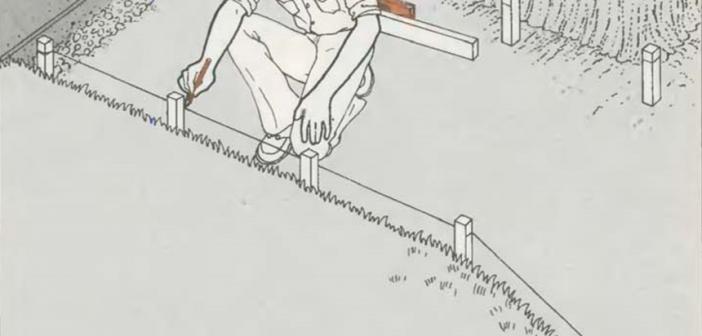 Опалубка для дорожек и площадок | Установка кольев