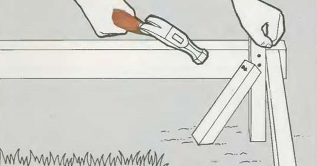 Опалубка для дорожек и площадок | Прибивка досок опалубки