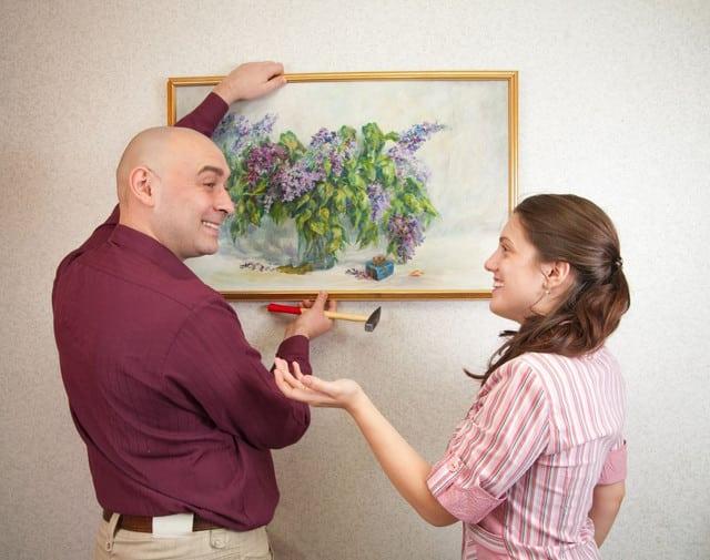 Как повесить картину   Как повесить картину на стену