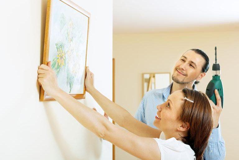 Как повесить картину   Как повесить картину при помощи сверления