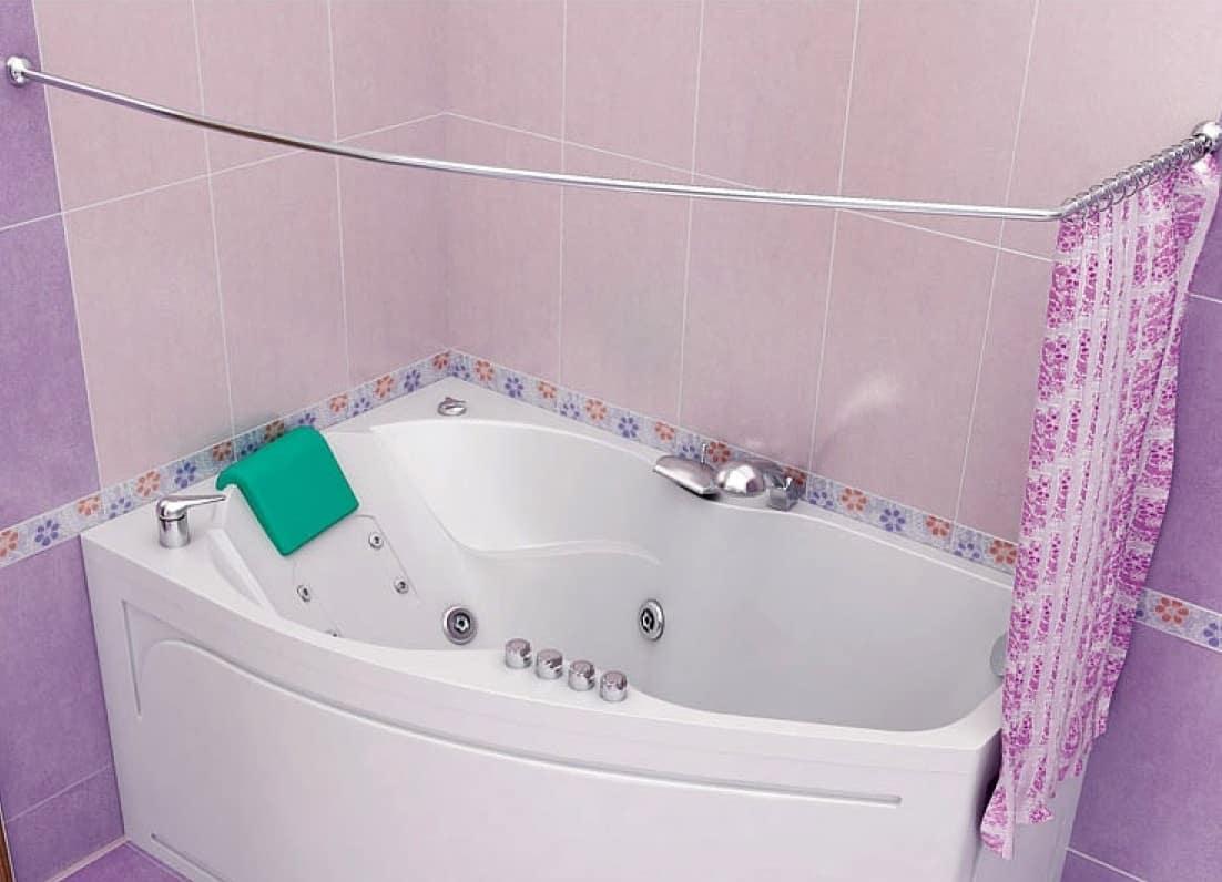 Штанга для шторы в ванную | Как установить штангу для шторы