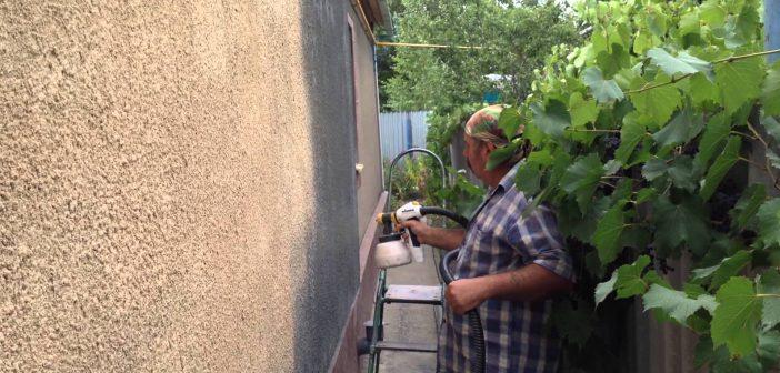 Фасад дома шубой | Особенности покраски при отделке шубой