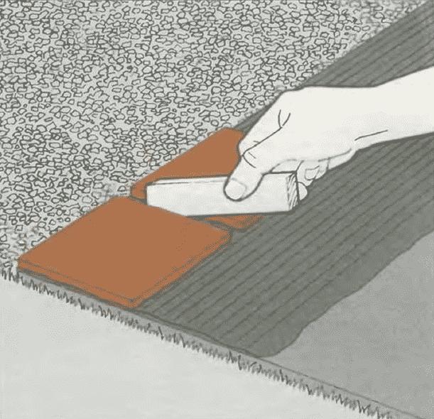 Укладка керамических плиток | Мощение бетонной плиты керамическими плитками