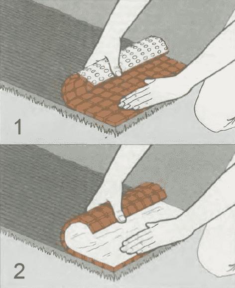 Укладка мозаичных плиток | Мощение бетонной плиты керамическими плитками