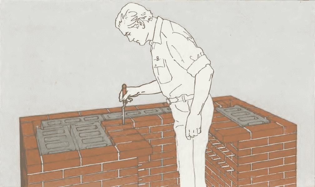 Мангал из кирпича и бетона своими руками   Расшивка швов