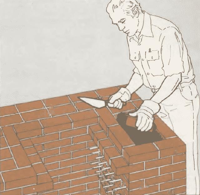 Мангал из кирпича и бетона своими руками   Укладка кирпичей на блоки