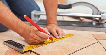 Мощение бетонной плиты керамическими плитками