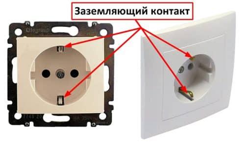 Розетка с заземлением | Выбор и установка розеток и выключателей
