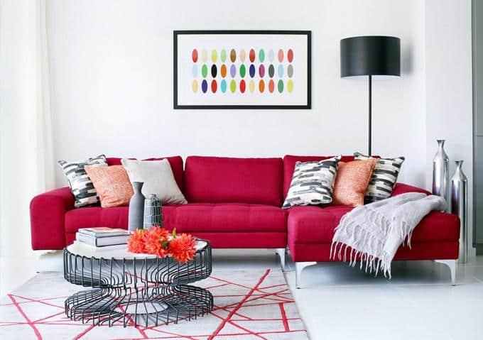 Как выбрать диван для ежедневного сна   Цвет дивана   Яркий цвет дивана