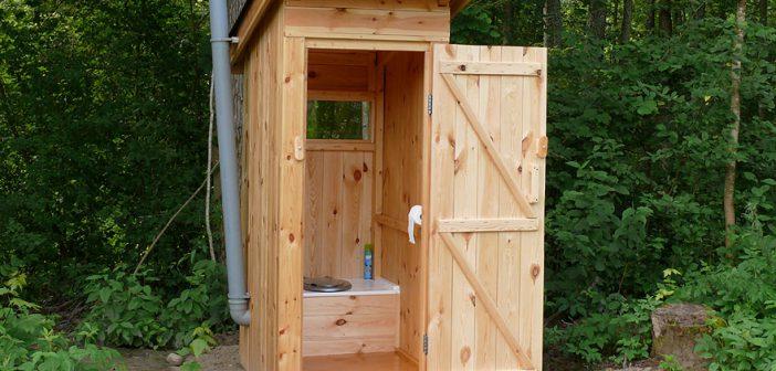 Дачный туалет ролики