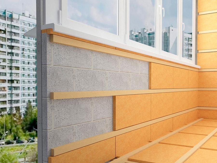 Балкон стены своими руками видео