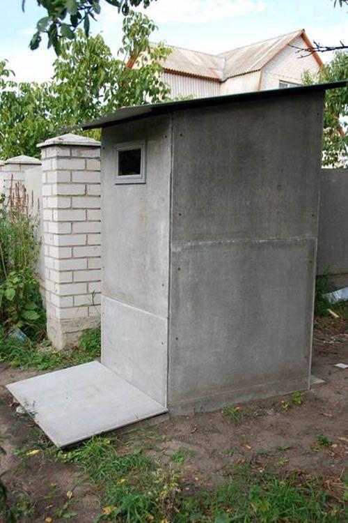 Туалет на даче своими руками | Туалет из плоского шифера