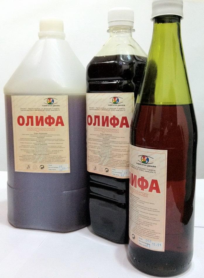 Виды отделочных материалов   Олифы