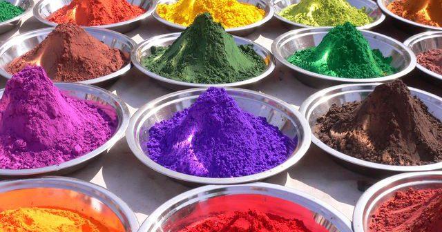 Виды отделочных материалов   Краски   Пигменты