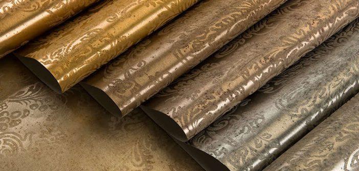 Виды отделочных материалов   Обои   Металлизированные обои