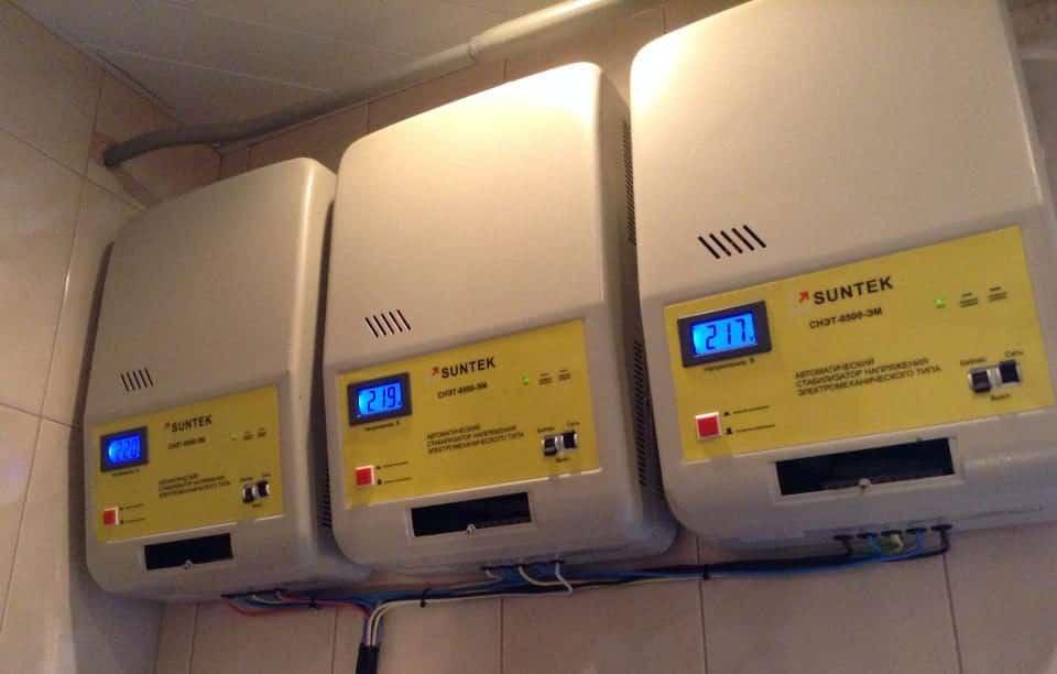 Стабилизаторы напряжения в помещении | Дизельные и бензиновые генераторы, стабилизаторы напряжения