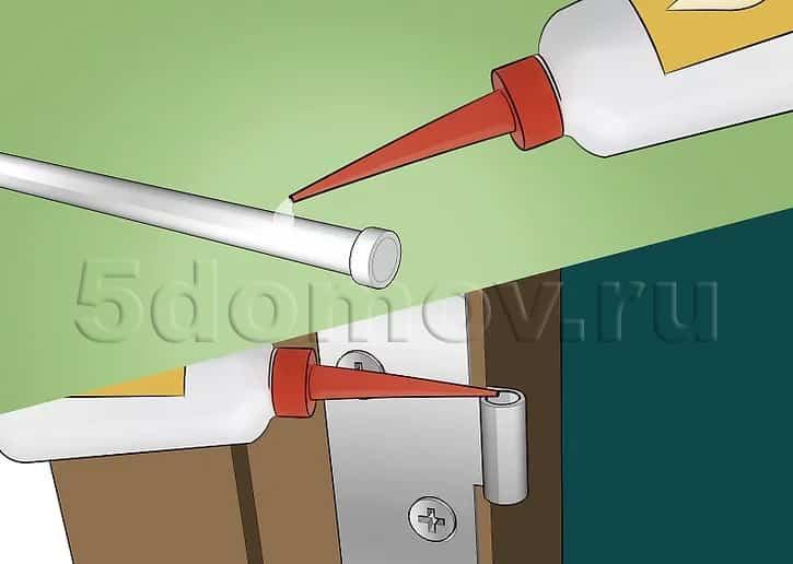 Смазывание стержня дверной петли
