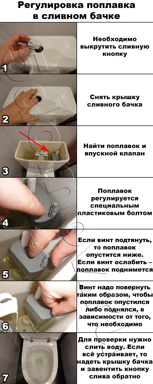 Клапан бачка унитаза своими руками