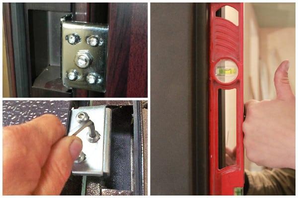 Подтягивание дверных петель