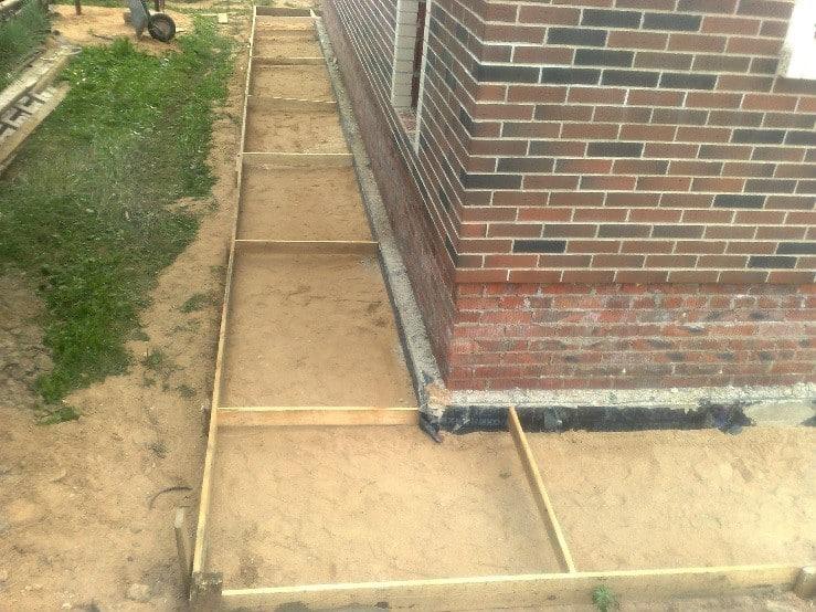 Как сделать отмостку из бетона