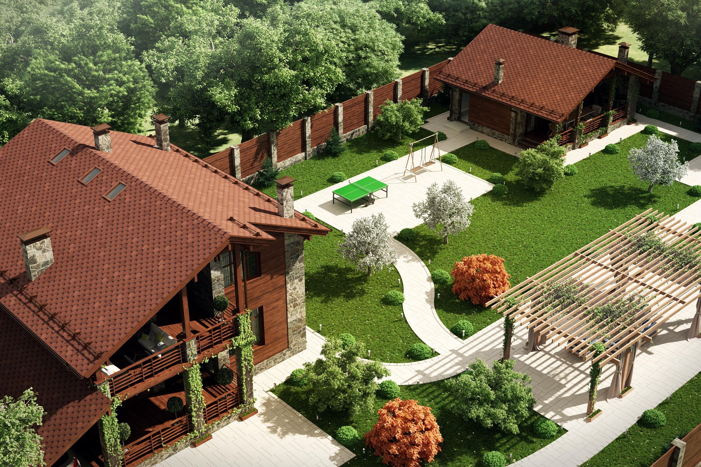 Ландшафтный дизайн и огород на 12 сотках