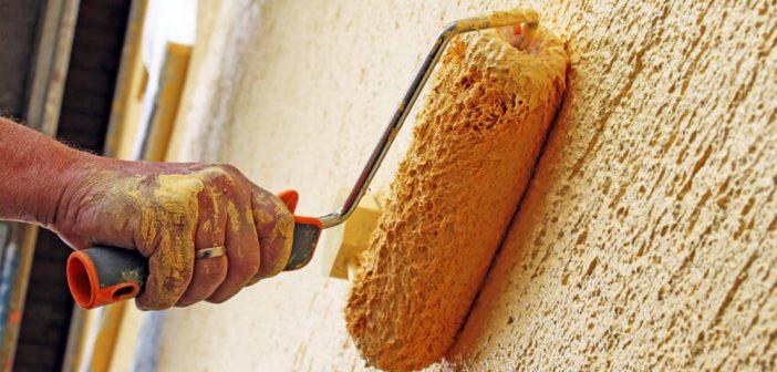 Фасад дома шубой | Нанесение шубы с помощью фактурного валика