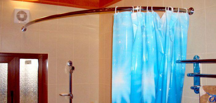 Штанга для шторы в ванную | Формы штанг для шторок