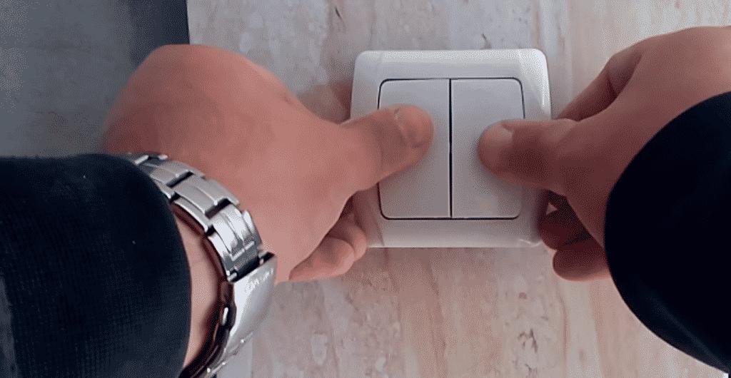 Установка двухклавишного выключателя | Выбор и установка розеток и выключателей