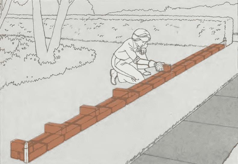 Кладка стен из кирпича | Разметка кладки
