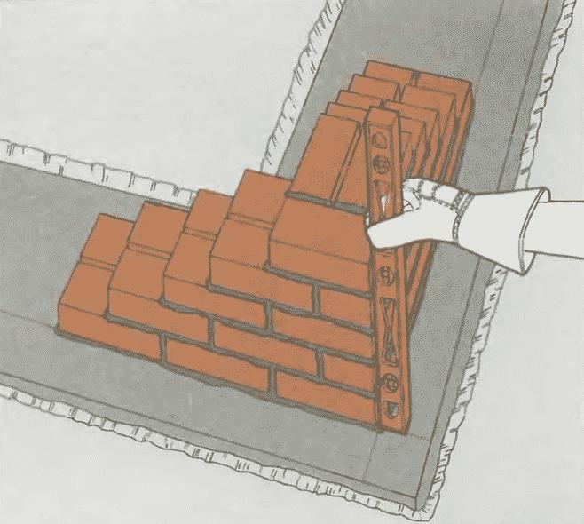 Кладка стен из кирпича | Завершение кладки углов