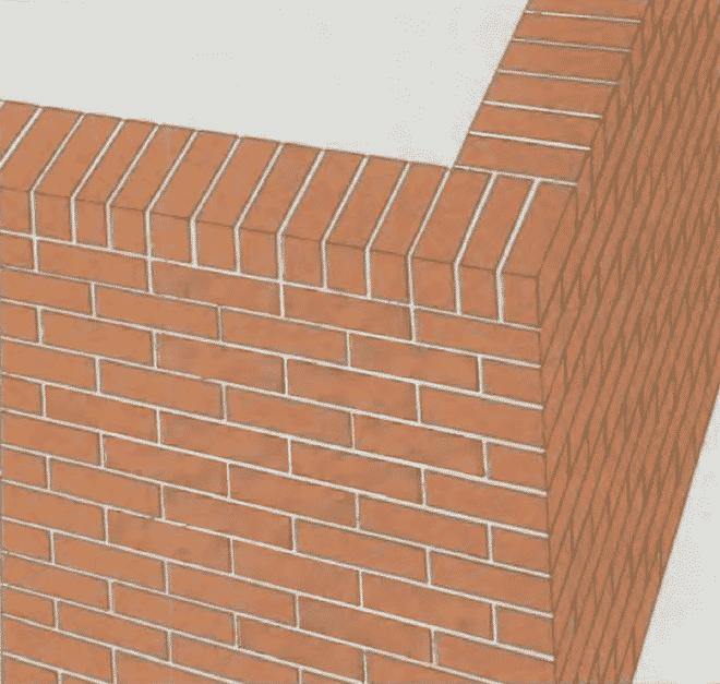 Кладка стен из кирпича | Кладка последнего ряда кирпичей