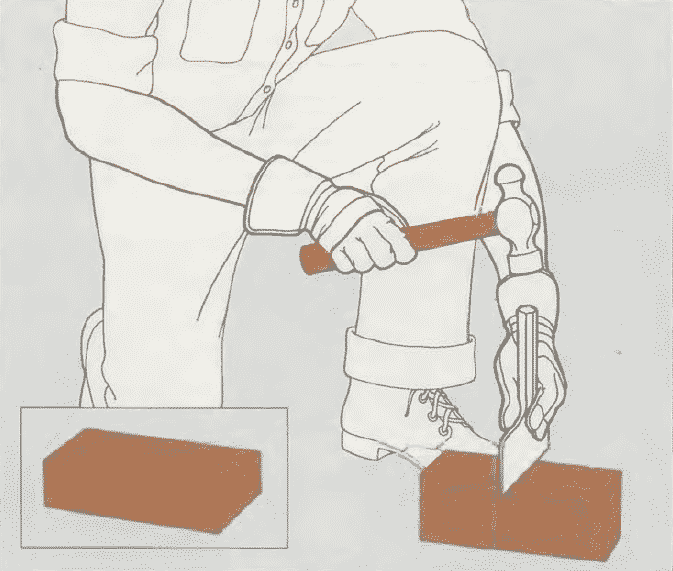 Ремонт кирпичной кладки | Как расколоть кирпич