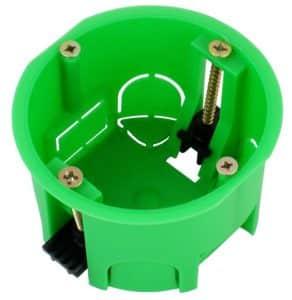Пластиковый подрозетник с прижимными лапками | Выбор и установка розеток и выключателей