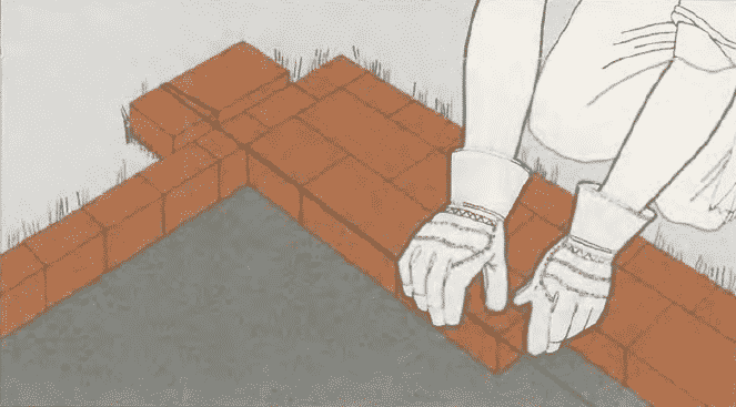 Дорожка из кирпича своими руками | Мощение дорожки без раствора