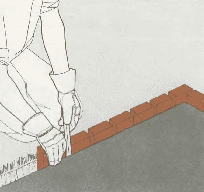 Дорожка из кирпича своими руками | Мощение дорожки на растворе
