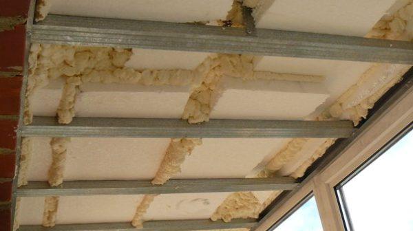 Как утеплить балкон своими руками | Как утеплить потолок на балконе пенопластом