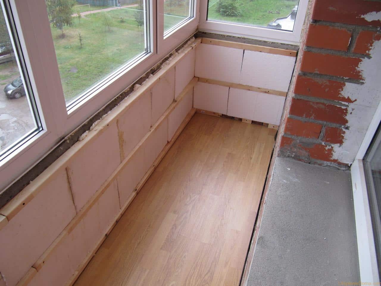 Как утеплить балкон своими руками | Как утеплить балкон пенопластом | Как крепить пенопласт