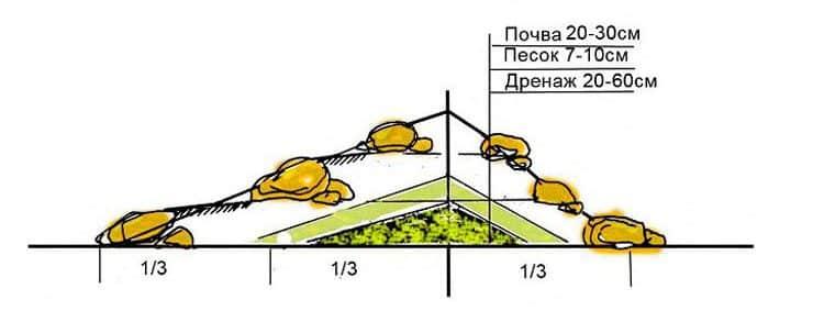 Как сделать клумбу из камней | Как сделать клумбу своими руками