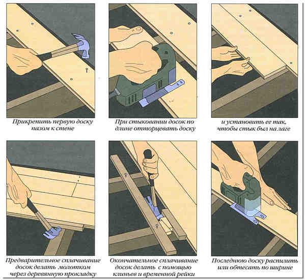 Как и из чего сделать полы в подвале | Схема укладки напольных досок