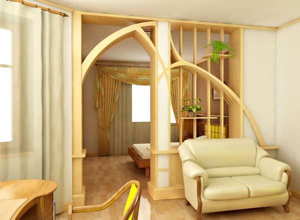 Деревянные перегородки | Материалы и виды межкомнатных перегородок