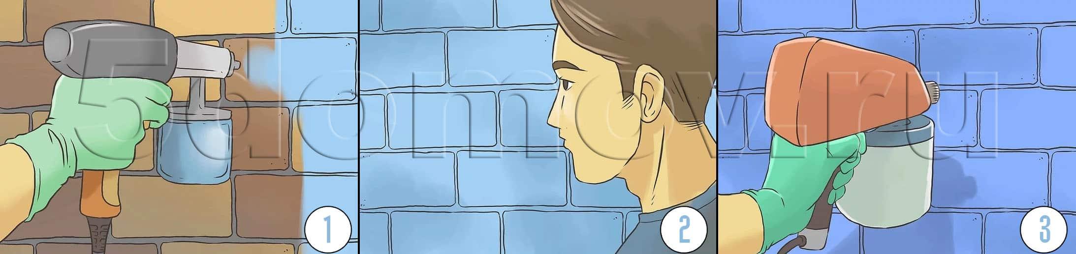 Чем и как покрасить кирпич (кирпичную стену) | Как красить кирпич и важные нюансы при покраске