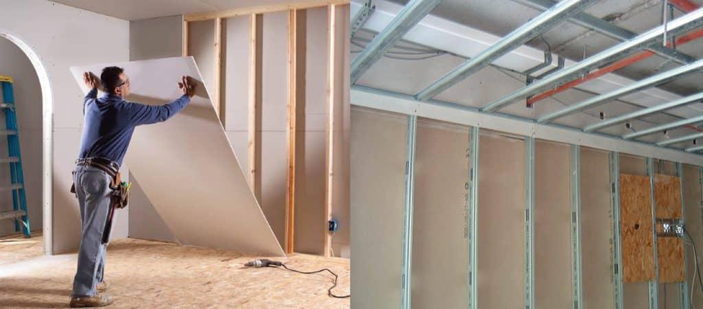 Монтаж гипсокартонных перегородок и стен | Особенности и применение гипсокартона