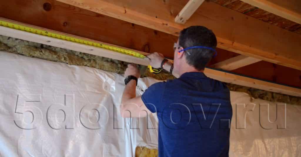Деревянный каркас под гипсокартон | Монтаж гипсокартонных перегородок и стен