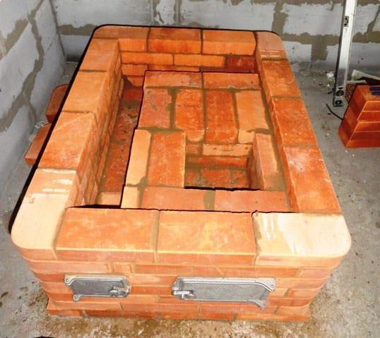 Варочная печь из кирпича своими руками - Улучшенная кухонная плита с духовкой и водогрейной коробкой
