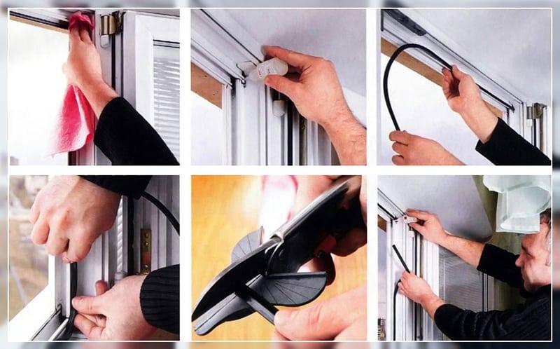 Чистка, смазка пластикового окна и замена уплотнителя