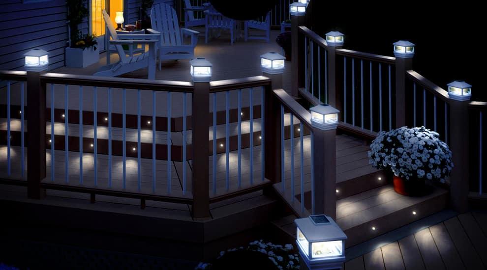 Освещение лестницы и террасы